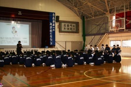 五所川原第一高校 AED講習会