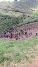 This is the land plot that's been put aside for demonstration of farming in Kambisea