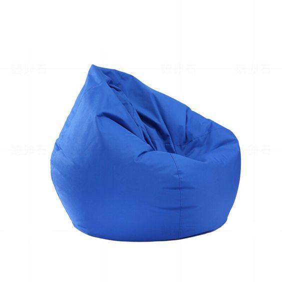 Ghế lười hình giọt nước màu xanh nước biển