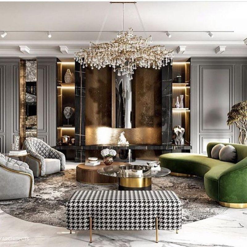 Thiết kế và trang trí nội thất phòng khách sang trọng hiện đại