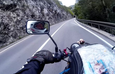 Riding through the Serbian mountains in the south