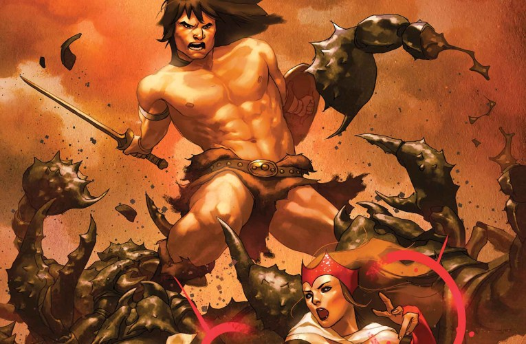 Universes Collide! Conan Enters The Marvel Universe in AVENGERS: NO ROAD HOME!