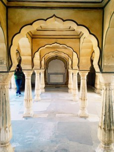 Marble room inside of Amer Fort.