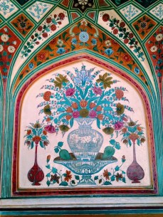 Painting inside of Amer Fort.