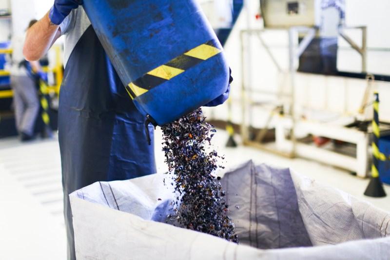 Cápsulas usadas são coletadas e enviadas para o Centro de Reciclagem