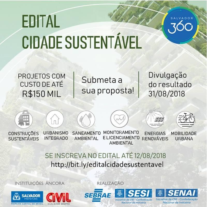 Prefeitura de Salvador lança chamada temática em parceria com a Construtora Civil