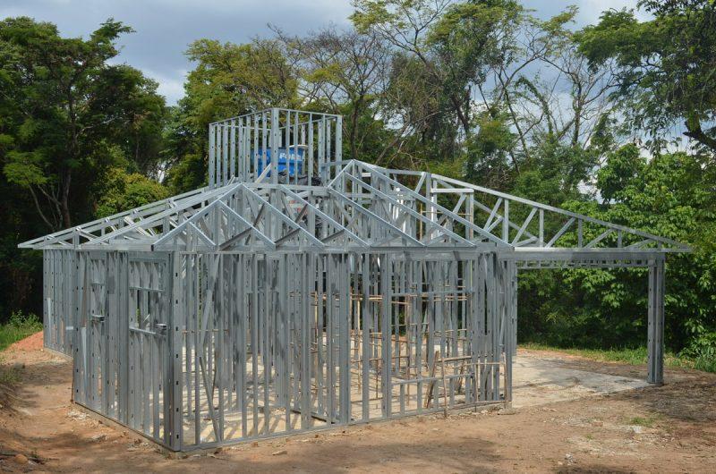 Estrutura da construção em steel frame