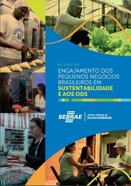 Capa do estudo de sustentabilidade realizado pelo Sebrae