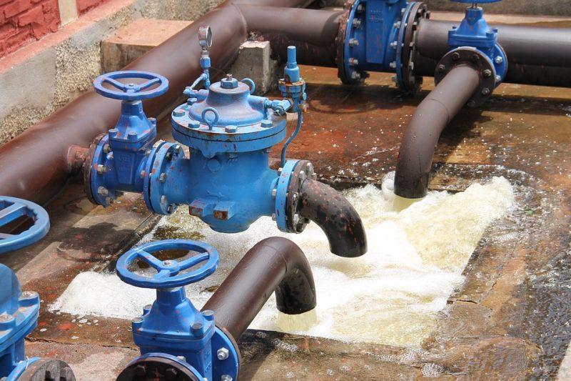 sistema distribuição de água