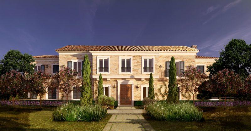 Projeto da fachada da Casa ACN Provence