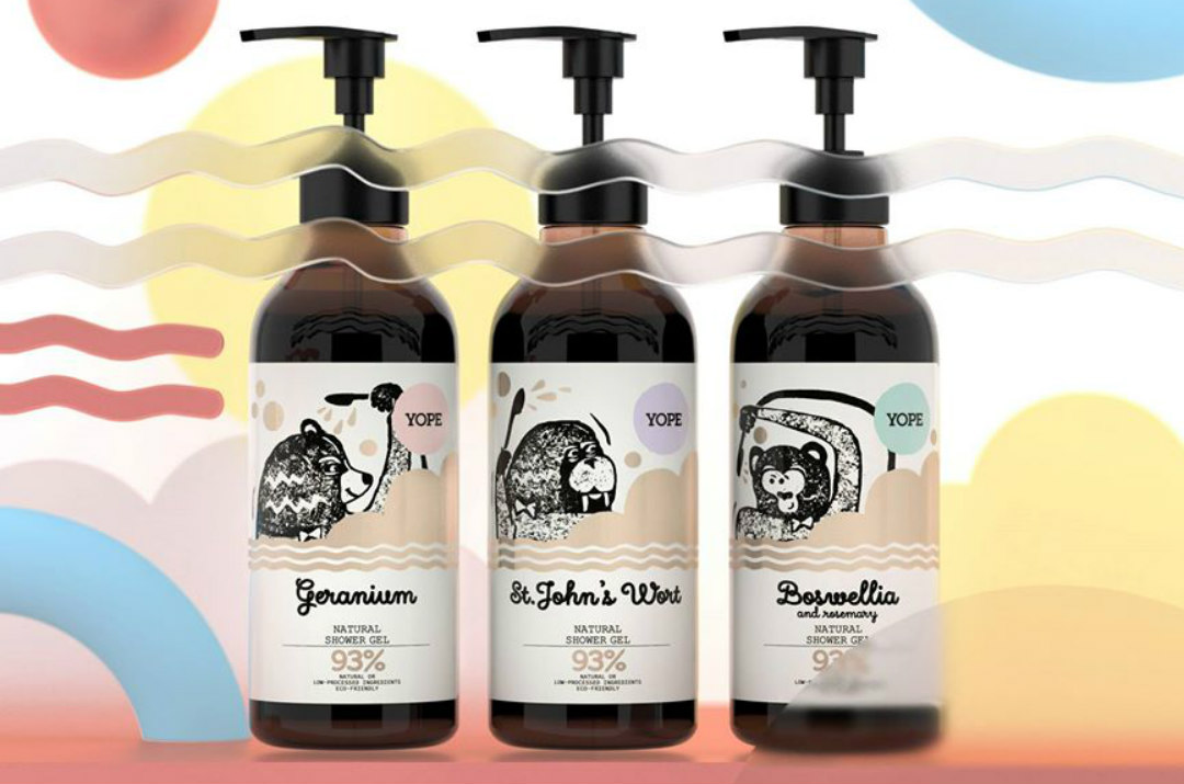 yope shower gels