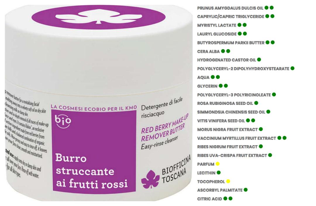 burro struccante biofficina toscana
