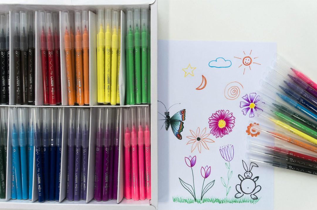 materiale scolastico scuola primaria pennarelli