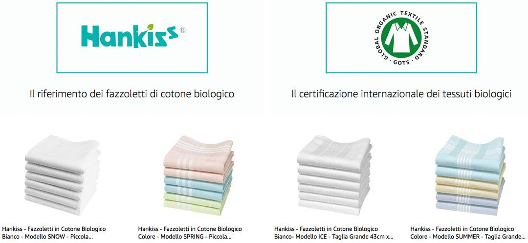 fazzoletti di stoffa hankiss cotone biologico