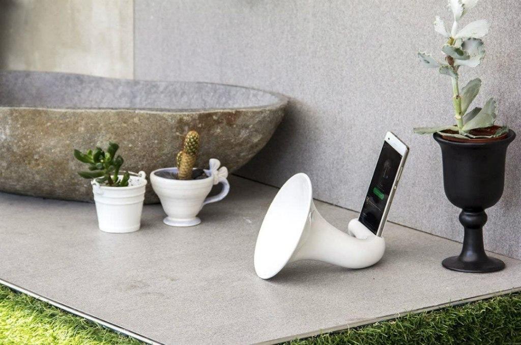 amplificatore passivo per smartphone ceramiche crescentini