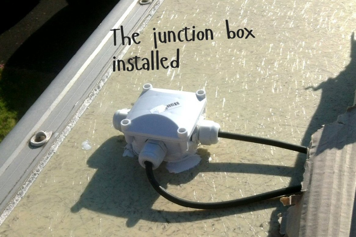 junction box installed