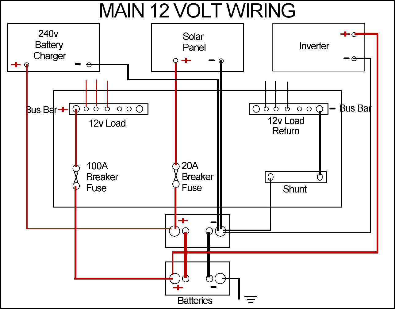 12v Wiring Diagram : Campervan leisure battery wiring diagram