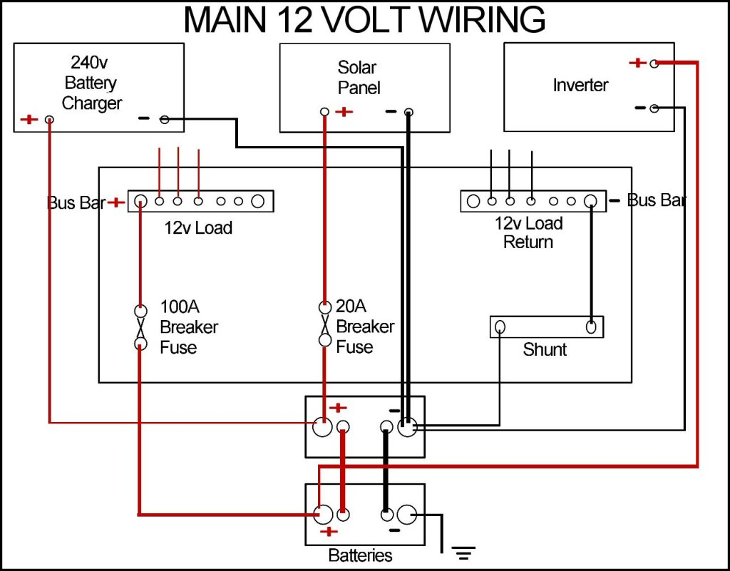 new leisure batteries and wiring tidy up 12 Volt Headlight Wiring Diagram Basic 12 Volt Wiring Diagrams