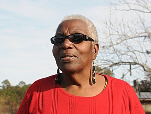 Hog Hammock's historian and local activist, Cornelia Bailey © 2015 Karen Rubin/news-photos-features.com