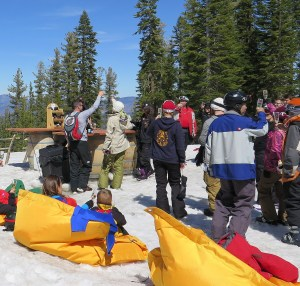 "Luxurious, whimsical and an ode to fun in the mountains, Tost, a 2 pm toast with Champagne atop the mountain at East Ridge exemplifies the ""California laid-back luxury"" atmosphere found at Northstar © 2015 Karen Rubin/news-photos-features.com"