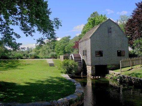 Dexter Grist Mill, a working grist mill in Sandwich on Cape Cod since 1654 where you can still buy ground cornmeal © 2016 Karen Rubin/news-photos-features.com