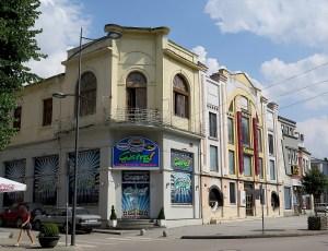 Korca's historic cinema © 2016 Karen Rubin/goingplacesfarandnear.com