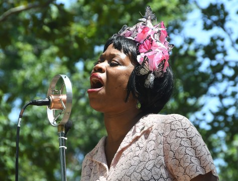 Queen Esther performing with her jazz quintet The Hot Five at 11th Annual Jazz Age Lawn Party on Governors Island © 2016 Karen Rubin/news-photos-features.com