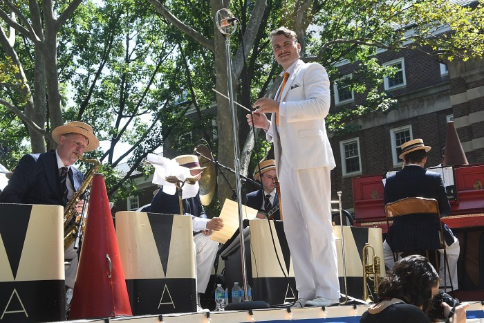 Michael Arenella and His Dreamland Orchestra at 11th Annual Jazz Age Lawn Party on Governors Island © 2016 Karen Rubin/news-photos-features.com