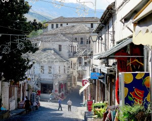 The bazaar in Gjirokaster's old city © 2016 Karen Rubin/goingplacesfarandnear.com 347 –