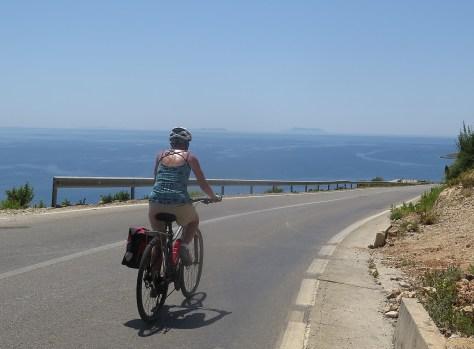 Cycling along Albania's Ionian Seacoast © 2016 Karen Rubin/goingplacesfarandnear.com