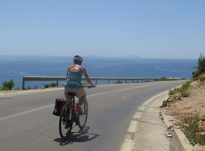 Cycling along Albania's Ionian Seacoast © 2016 Karen Rubin/goingplacesfarandnear.com