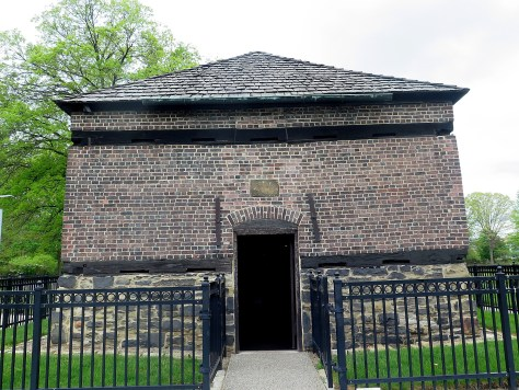 Fort Pitt Blockhouse, built in 1764, is the oldest building in Pittsburgh and the only remaining structure from colonial times © 2016 Karen Rubin/goingplacesfarandnear.com