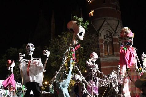 Skeletons join the 43rd annual Village Halloween Parade © 2016 Karen Rubin/goingplacesfarandnear.com