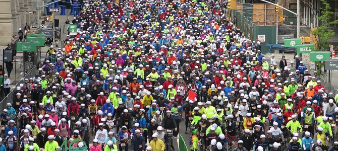 32,000 Cyclists Take over NYC Streets for 40th Anniversary of TD Five Boro Bike Tour