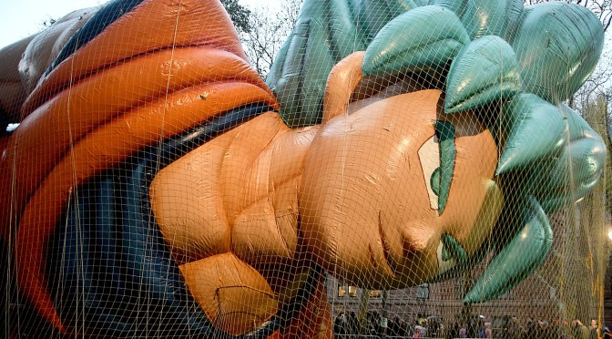 Macy's Thanksgiving Parade Balloon Inflation Draws Thousands