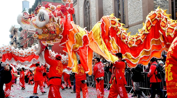 Parade through Chinatown, NYC Welcomes in Year of Pig, Showcases Chinese Heritage