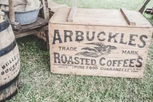 trademark on wood box