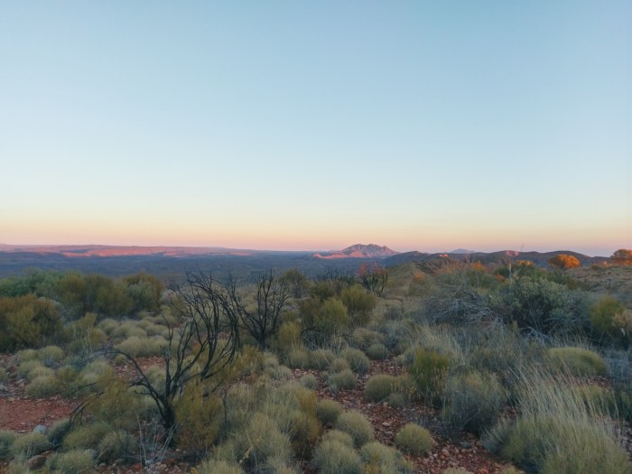 Sunrise on Larapinta trail