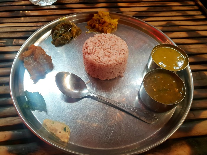 Red rice thali