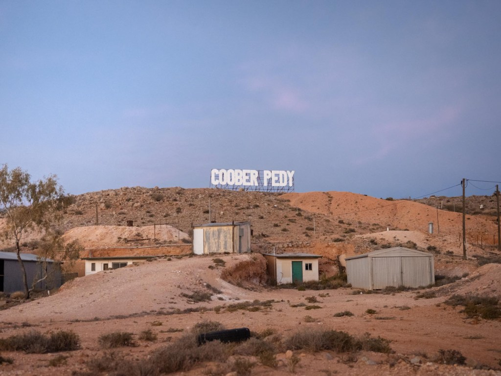 Coober Pedy Hollywood sign