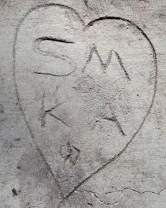 SM & KA in our concrete walk