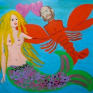 Valentine for Scott: Fishgirl & Lobsterboy window