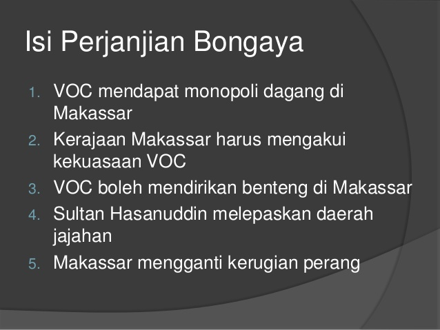 Isi Perjanjian Bongaya