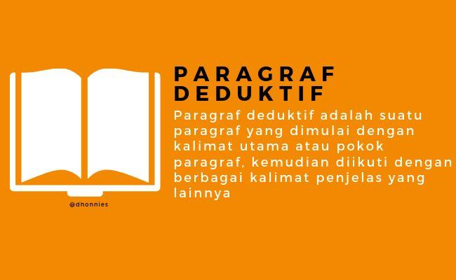 Pengertian Paragraf Deduktif Dan Induktif Serta Contoh