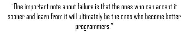 why women are great software developers failure quote