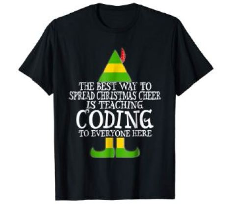 coding christmas shirt