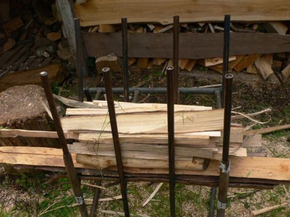 In the wood-station, ready for cutting to length
