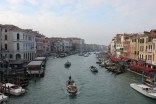 A view of the Grand Canal from atop the Rialto Bridge - Venice