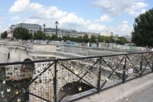 Locks have even begun appearing on the railing leading onto Pont Neuf