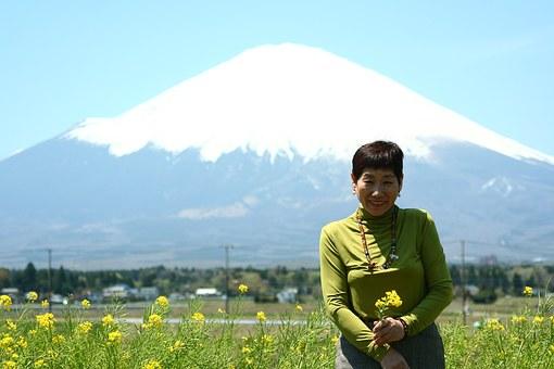 富士山とおばさん